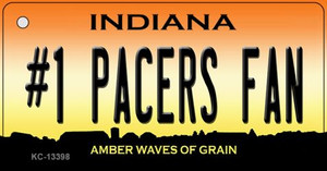 Number 1 Pacers Fan Wholesale Novelty Metal Key Chain KC-13398