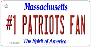 Number 1 Patriots Fan Wholesale Novelty Metal Key Chain KC-13408