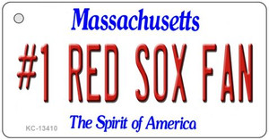 Number 1 Red Sox Fan Wholesale Novelty Metal Key Chain KC-13410