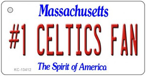 Number 1 Celtics Fan Wholesale Novelty Metal Key Chain KC-13412