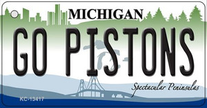 Go Pistons Wholesale Novelty Metal Key Chain KC-134117