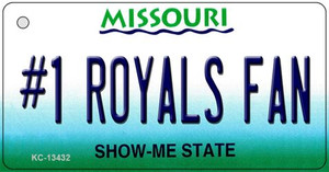 Number 1 Royals Fan Wholesale Novelty Metal Key Chain KC-13432