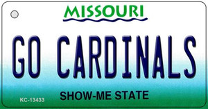 Go Cardinals Wholesale Novelty Metal Key Chain KC-13433