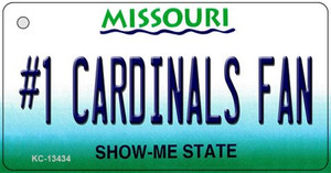 Number 1 Cardinals Fan Wholesale Novelty Metal Key Chain KC-13434
