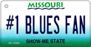 Number 1 Blues Fan Wholesale Novelty Metal Key Chain KC-13436