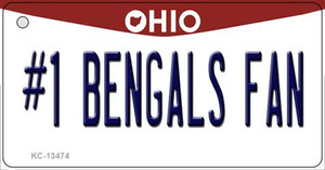 Number 1 Bengals Fan Wholesale Novelty Metal Key Chain KC-13474
