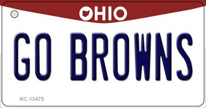 Go Browns Wholesale Novelty Metal Key Chain KC-13475