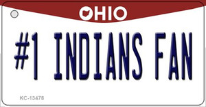 Number 1 Indians Fan Wholesale Novelty Metal Key Chain KC-13478