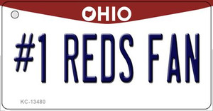 Number 1 Reds Fan Wholesale Novelty Metal Key Chain KC-13480