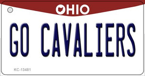 Go Cavaliers Wholesale Novelty Metal Key Chain KC-13481