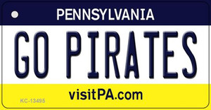 Go Pirates Wholesale Novelty Metal Key Chain KC-13495