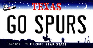 Go Spurs Wholesale Novelty Metal Key Chain KC-13519