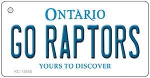 Go Raptors  Wholesale Novelty Metal Key Chain KC-13545