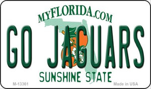Go Jaguars Wholesale Novelty Metal Magnet M-13361