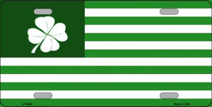 Green Shamrock Flag Wholesale Metal Novelty License Plate LP-6884