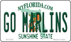 Go Marlins Wholesale Novelty Metal Magnet M-13367