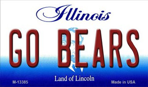 Go Bears Wholesale Novelty Metal Magnet M-13385