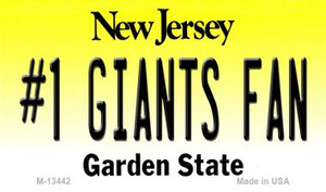 Number 1 Giants Fan Wholesale Novelty Metal Magnet M-13442