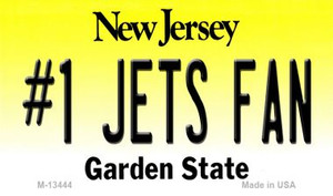Number 1 Jets Fan Wholesale Novelty Metal Magnet M-13444