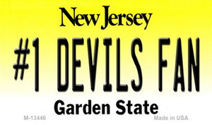 Number 1 Devils Fan Wholesale Novelty Metal Magnet M-13446