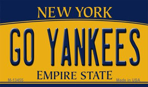 Go Yankees Wholesale Novelty Metal Magnet M-13455