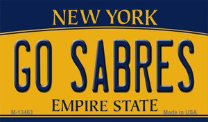 Go Sabres Wholesale Novelty Metal Magnet M-13463