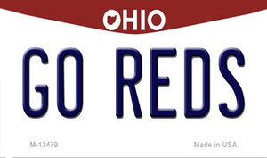 Go Reds Wholesale Novelty Metal Magnet M-13479