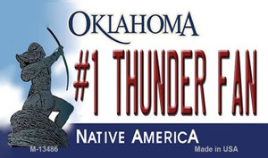 Number 1 Thunder Fan Wholesale Novelty Metal Magnet M-13486