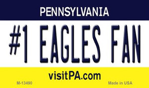 Number 1 Eagles Fan Wholesale Novelty Metal Magnet M-13490