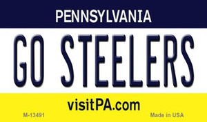 Go Steelers Wholesale Novelty Metal Magnet M-13491