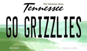 Go Grizzlies Wholesale Novelty Metal Magnet M-13505