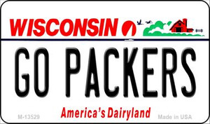 Go Packers Wholesale Novelty Metal Magnet M-13529