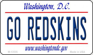 Go Redskins Wholesale Novelty Metal Magnet M-13535