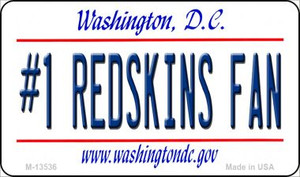 Number 1 Redskins Fan Wholesale Novelty Metal Magnet M-13536