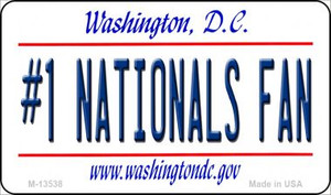 Number 1 Nationals Fan Wholesale Novelty Metal Magnet M-13538