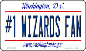 Number 1 Wizards Fan Wholesale Novelty Metal Magnet M-13540