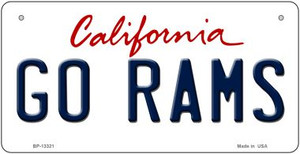Go Rams Wholesale Novelty Metal Bicycle Plate BP-13321