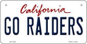 Go Raiders Wholesale Novelty Metal Bicycle Plate BP-13325