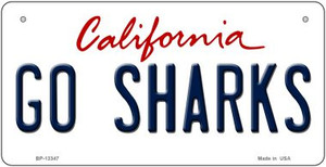 Go Sharks Wholesale Novelty Metal Bicycle Plate BP-13347