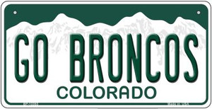 Go Broncos Wholesale Novelty Metal Bicycle Plate BP-13353