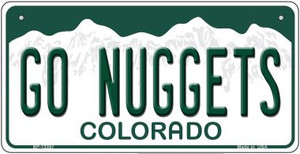 Go Nuggets Wholesale Novelty Metal Bicycle Plate BP-13357
