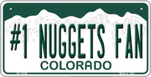 Number 1 Nuggets Fan Wholesale Novelty Metal Bicycle Plate BP-13358