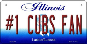 Number 1 Cubs Fan Wholesale Novelty Metal Bicycle Plate BP-13388