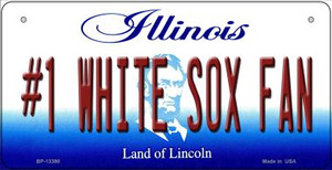 Number 1 White Sox Fan Wholesale Novelty Metal Bicycle Plate BP-13390