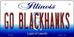 Go Blackhawks Wholesale Novelty Metal Bicycle Plate BP-13393