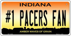 Number 1 Pacers Fan Wholesale Novelty Metal Bicycle Plate BP-13398