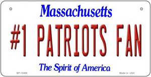 Number 1 Patriots Fan Wholesale Novelty Metal Bicycle Plate BP-13408