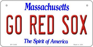 Go Red Sox Wholesale Novelty Metal Bicycle Plate BP-13409