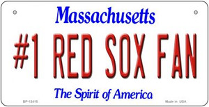 Number 1 Red Sox Fan Wholesale Novelty Metal Bicycle Plate BP-13410