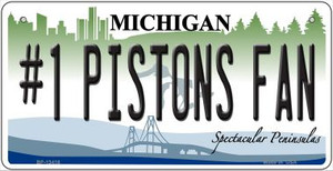 Number 1 Pistons Fan Wholesale Novelty Metal Bicycle Plate BP-13418
